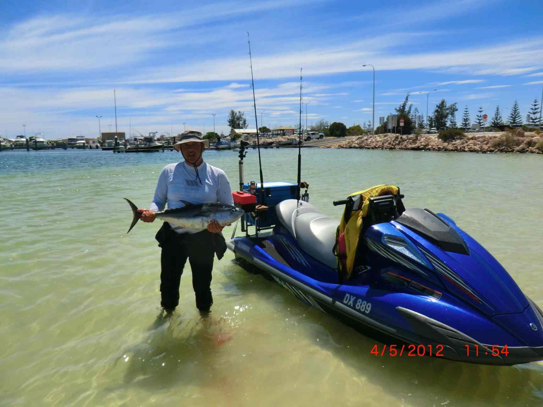 Jurien bay jetski fishing trip pictures fishing for Fishing jet ski