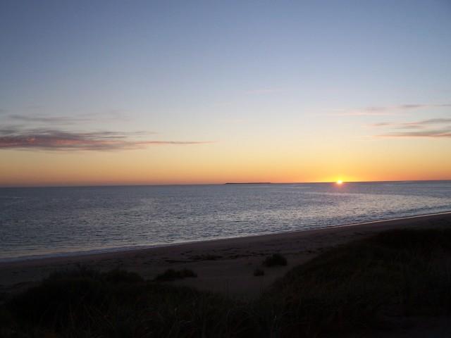 sunrise on our beach camp