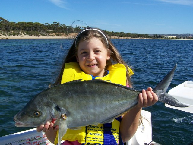 Olivia with a Port Lincoln Trevally