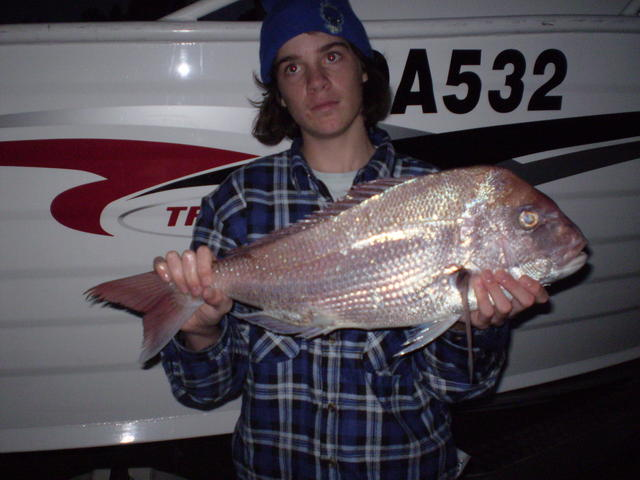 my brother Damo's first pink snapper