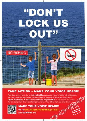 Don't Lock Us Out- Keep Australia Fishing
