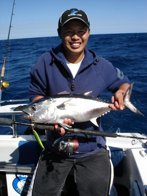 Small bluefin on jig1
