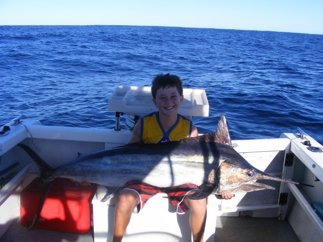 Exmouth 2010 - Jakes first Marlin