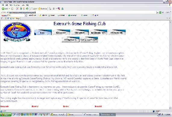 Exmouth Game Fishing Club WEBPAGE