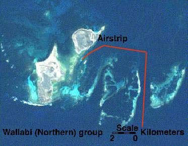Houtman Abrolhos By air showing Goss passage approach
