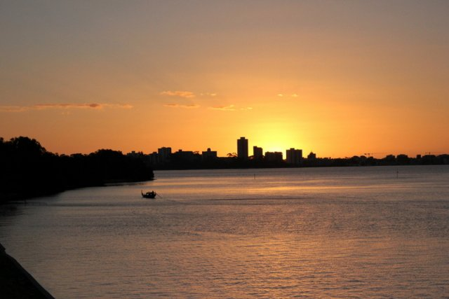 Last night's sunset on the Swan River