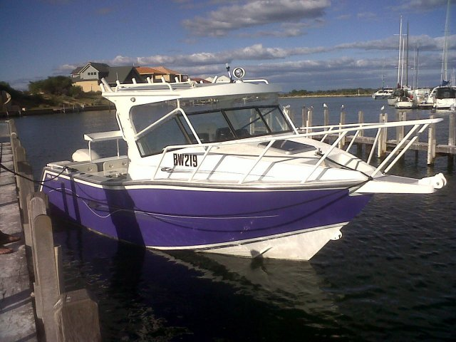 Browny's boat 'Purple Patch'