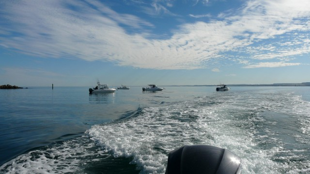 Geralton Flat Seas day1 Commodore Marine Abrolhos Trip 2008