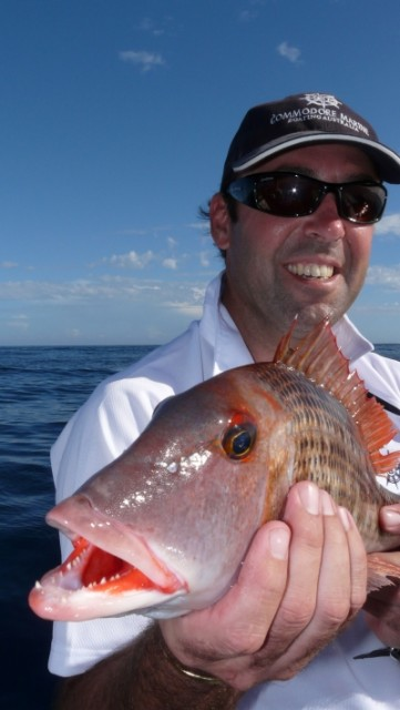 Andrew with a nice Red Throat.... Commodore Abrolhos Convoy 2008