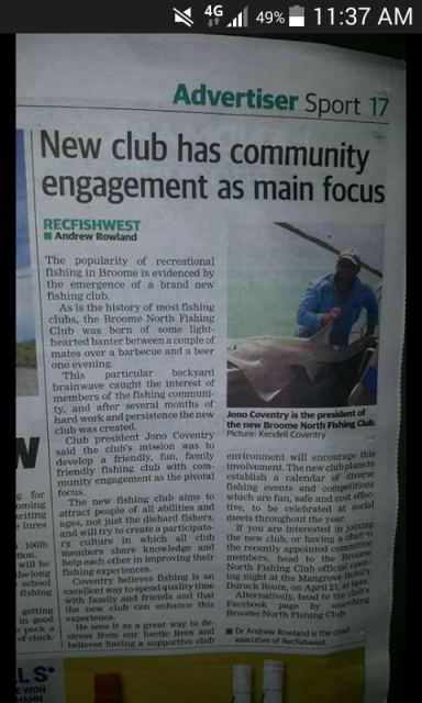New club in Broome B.N.F.C