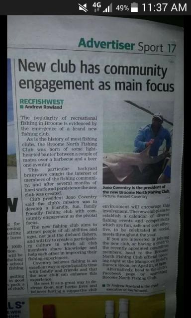 New club in Broome B.N.F.C