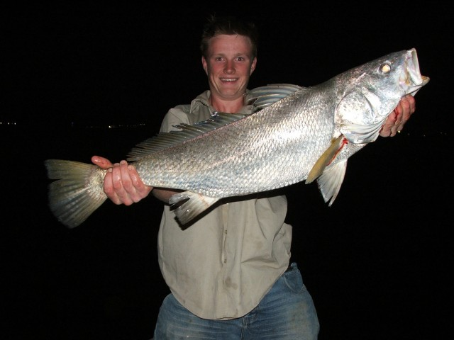 Stuarts first Mulloway in Port Hedland