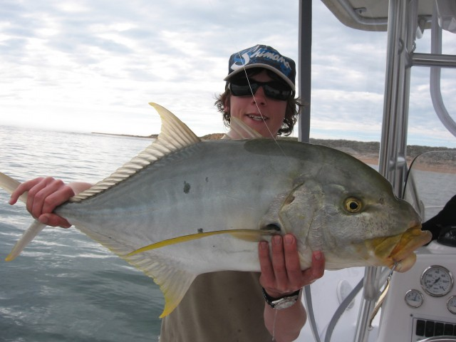 a nice golden on a halco 30gm gold twisty with my new twinpower 4000 on a T-curve saltwater spin