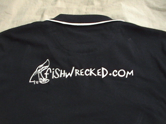 Back of the fishwrecked shirt