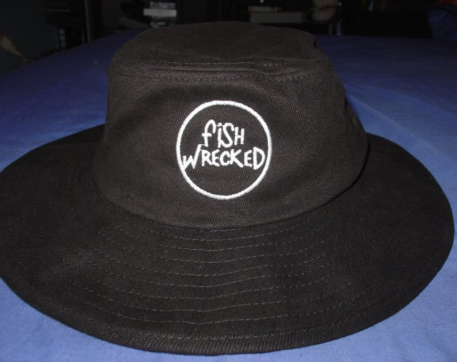 Fishwrecked Black Hat Front