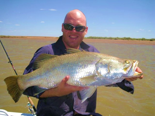 My 6th barra for the trip 82.5 cm released (our 9th)