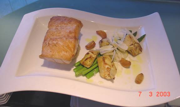 Snapper with Risotto, Asparagus and Artichokes