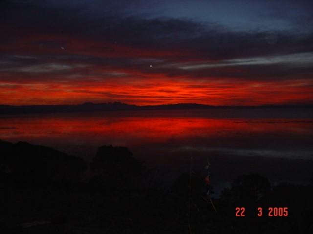Cobweb Sunrise after Bushfire
