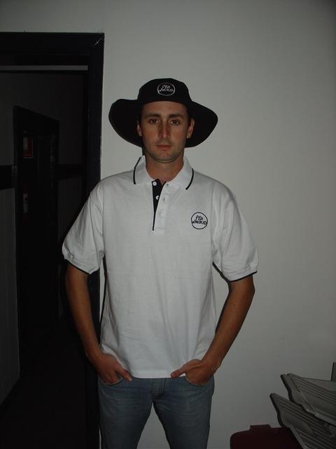 Fishwrecked white shirt and black hat