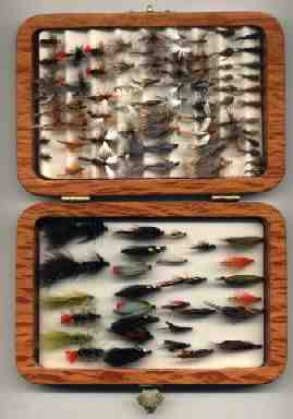 Trout flys in sheoke flybox