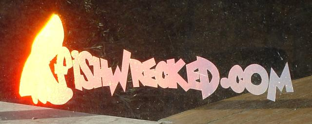 Fishwrecked Holographic Sticker