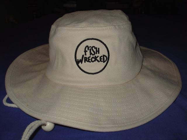 Fishwrecked Hats White Front