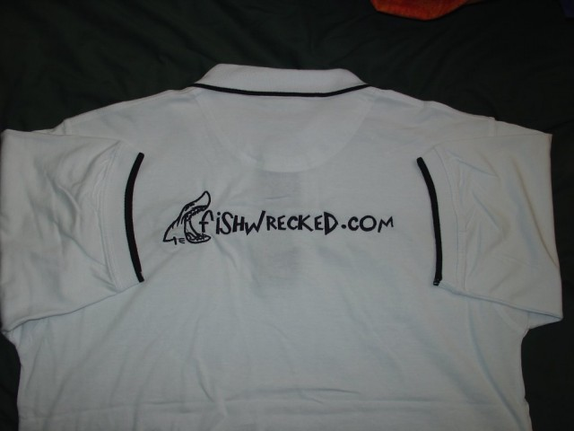 White fishwrecked shirt - back