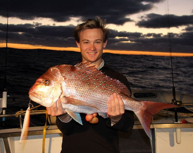 First snapper of the trip