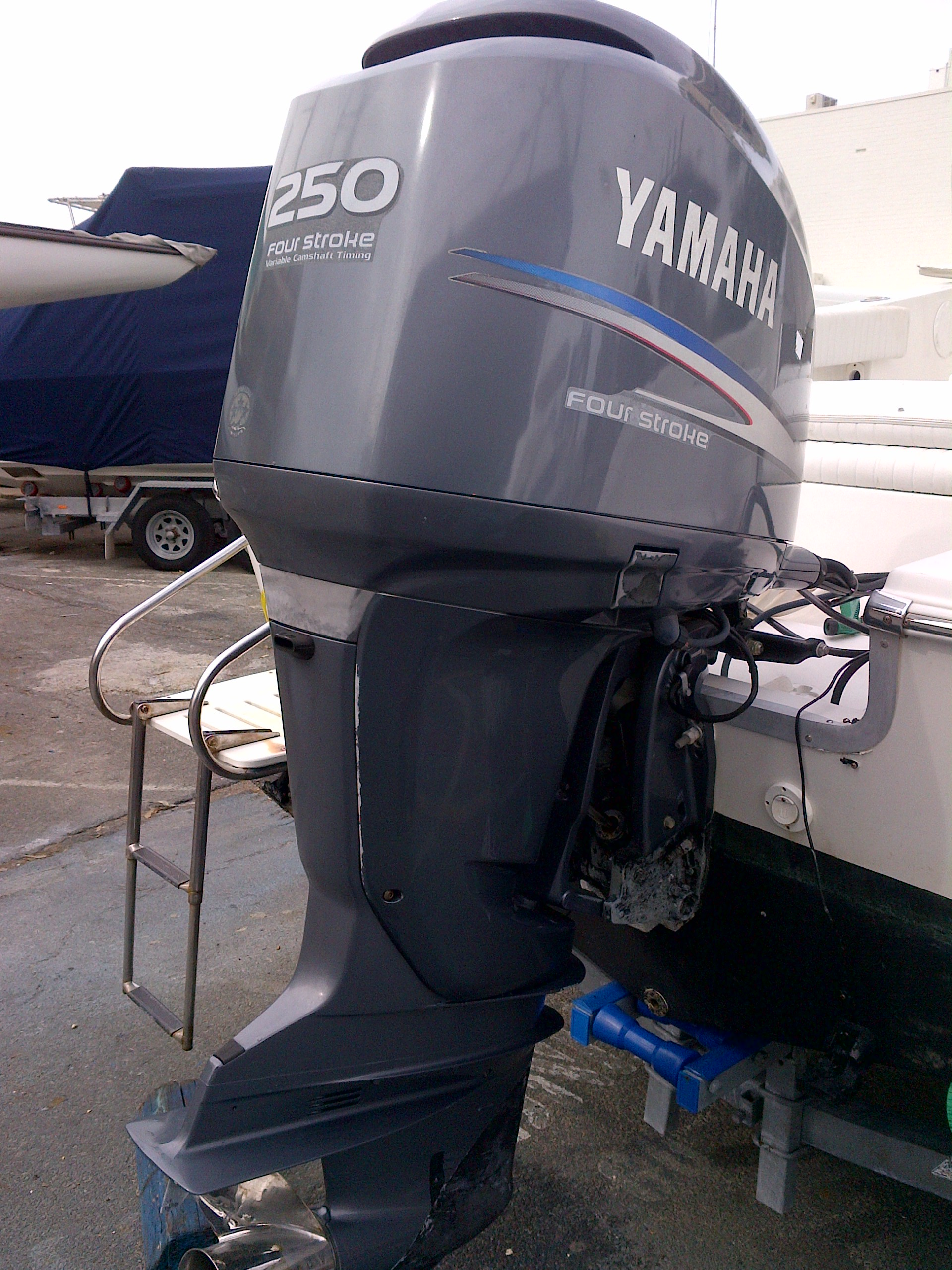 How To Remove Old Cowling Stickers On Outboard Fishing - Boat decals fish   easy removal